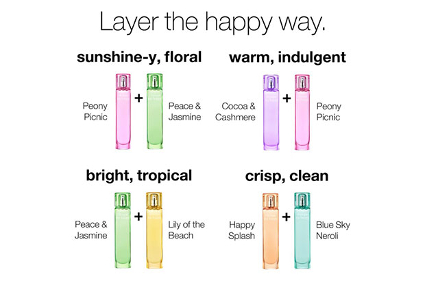 clinique my happy layering