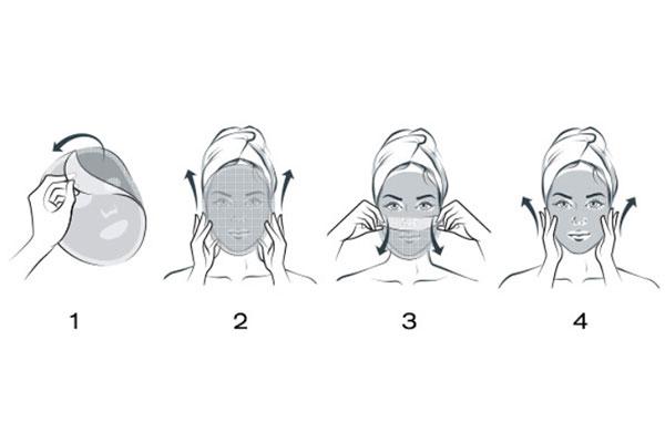 how to apply Elizabeth ARden superstart mask