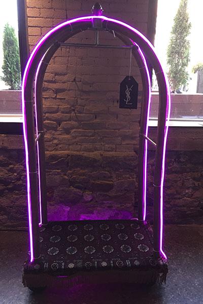 ysl beauty hotel baggage cart