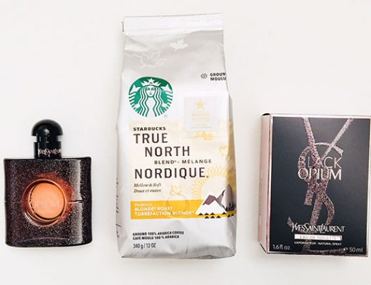 starbucks true north blend and YSL black opium