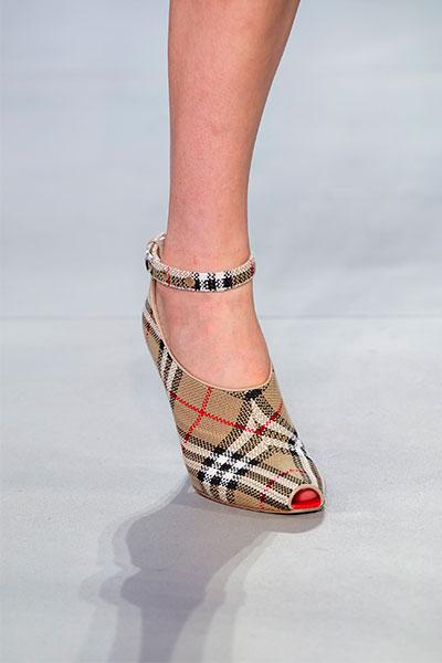 burberry check shoe for spring 2019