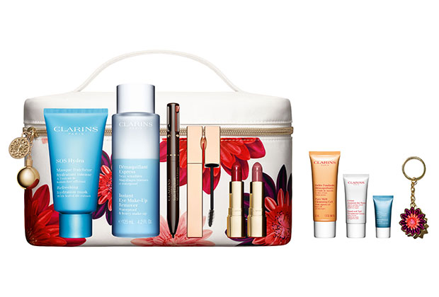 clarins holiday purchase with purchase set