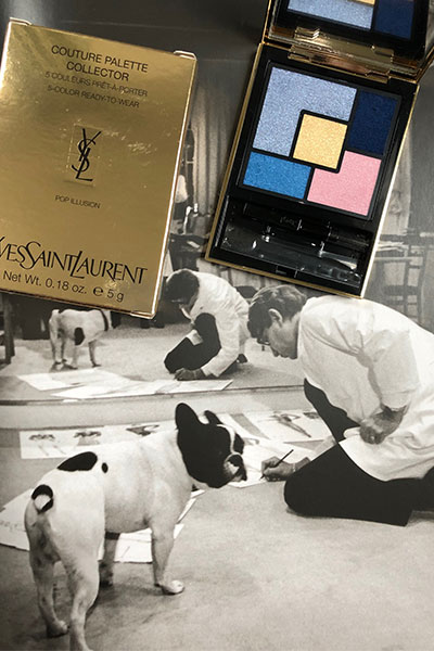 yves saint laurent and his dog moujik