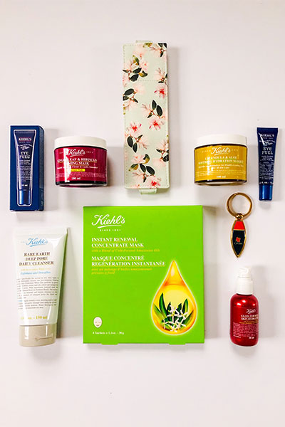 Kiehl's skincare products for spring