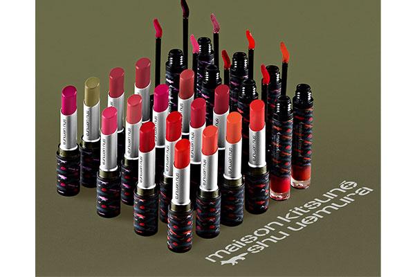 maison kitsune x shu uemura lipsticks
