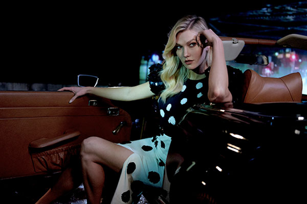 Supermodel Karlie Kloss stars in the Good Girl Dot Drama ad campaign