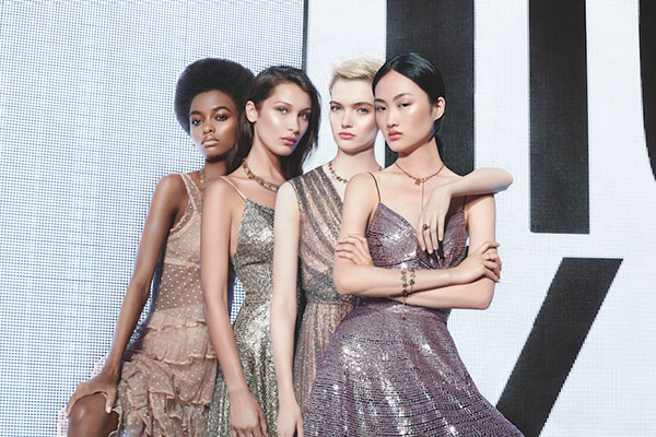 Dior Backstage Beauty models