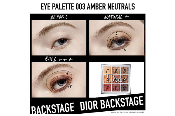 Dior Backstage Eyeshadow Palette in Amber Neutrals