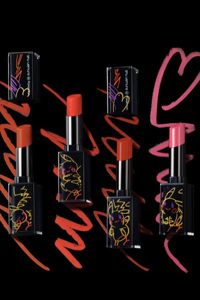 shu uemura x Pokemon rouge unlimited lipstick