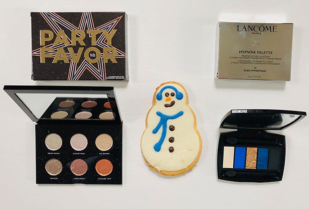Urban Decay Party Favour palette and Lancome Hypnose Palette Bleu Hypnotique