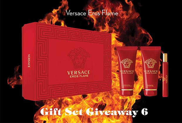 Versace Eros Flame gift set giveaway