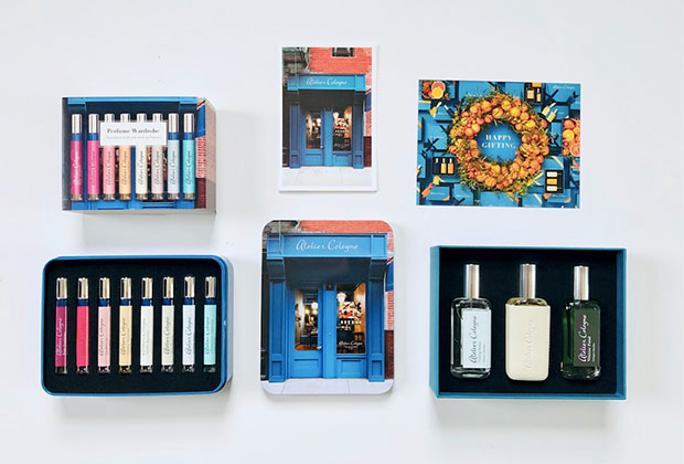 Atelier Cologne gift sets Perfume Wardrobe 8 x 4ml Cologne Absolute travel sprays Atelier Cologne favourites 3 x 30 ml Cologne Absolute in Oolong Infini, Vetiver Fatal, Vanilla Insensee