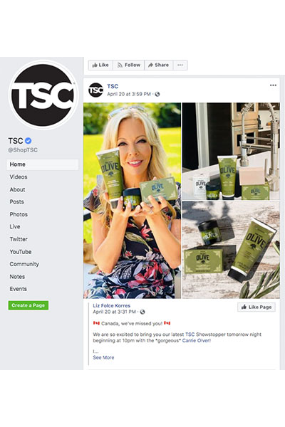TSC's Facebook page