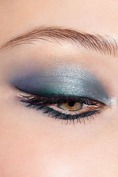 "Dior beauty look in ""denim"""