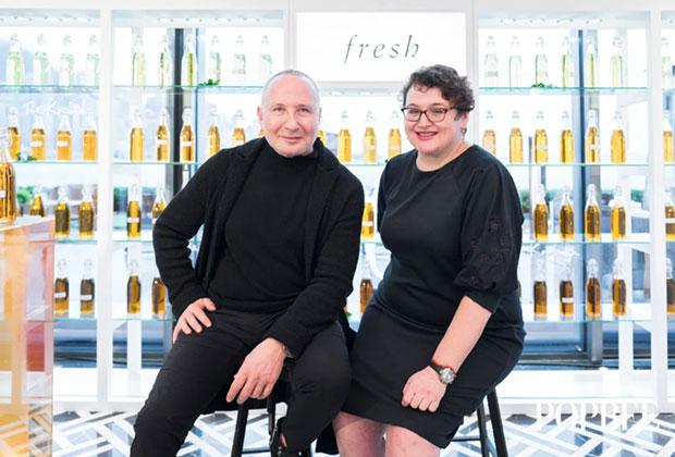 Fresh Beauty cofounders Lev Glazman and Alina Roytberg