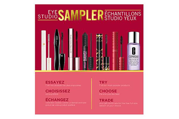 Shoppers Drug Mart's Eye Studio Sampler set