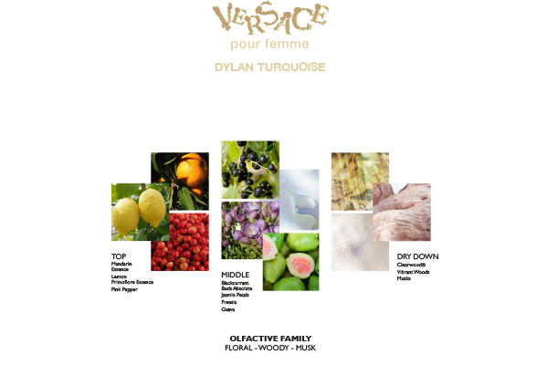 Versace pour femme Dylan Turquoise featured ingredients