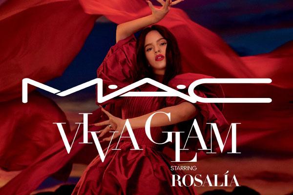 Rosalia stars as the face of MAC Viva Glam 26