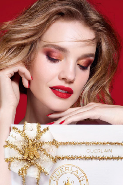 Guerlain Golden Bee makeup look