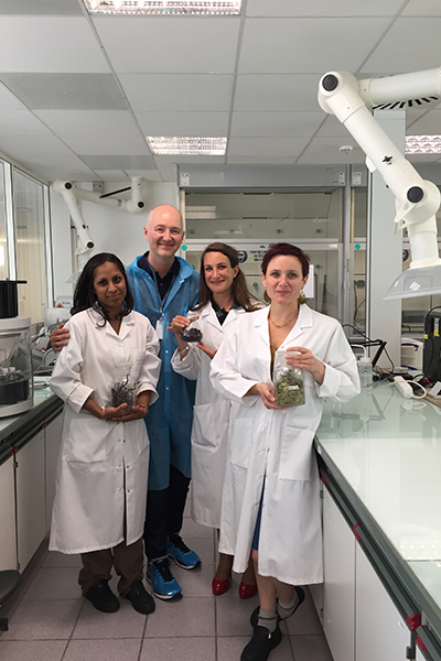 Dave with some of Clarins' top research scientists in Paris